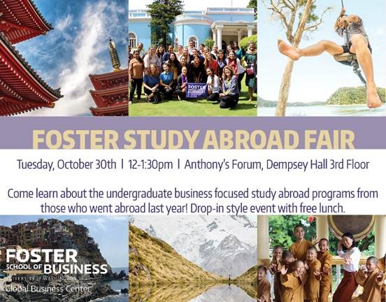 Events: Foster Study Abroad Fair 10/30 | UW iSchool Office of
